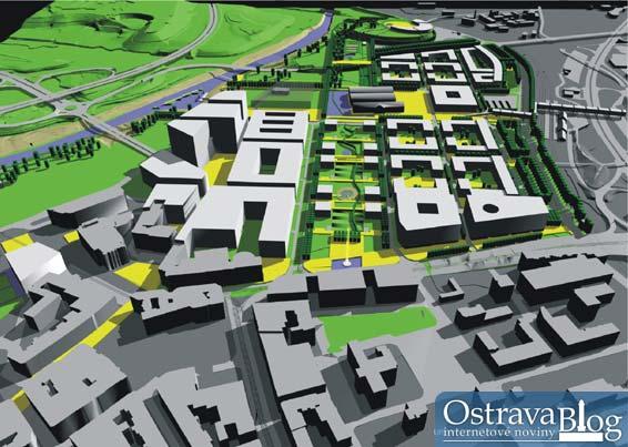 Představení a fotografie urbanistické studie, která je budoucností Ostravy