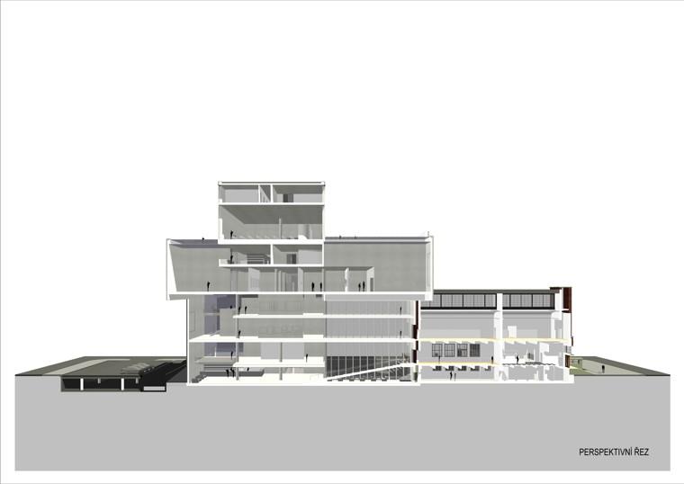 Fotografie k článku Dostavba Domu umění podle návrhu architekta Josefa Pleskota