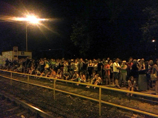 Městská hromadná doprava během festivalu Colours of Ostrava 2015? / foto Ondřej Polanský, 2015