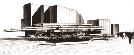 Ivo Klimeš: Koncertní síň Státní filharmonie Ostrava, 1969