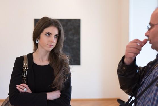 Polská výtvarnice Anna Szprynger ve Výstavní síni Sokolská 26 / foto (c) Jiří Kohoutek