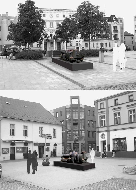 Přemístění ostravské sochy Františka Štorka v Hlučíně