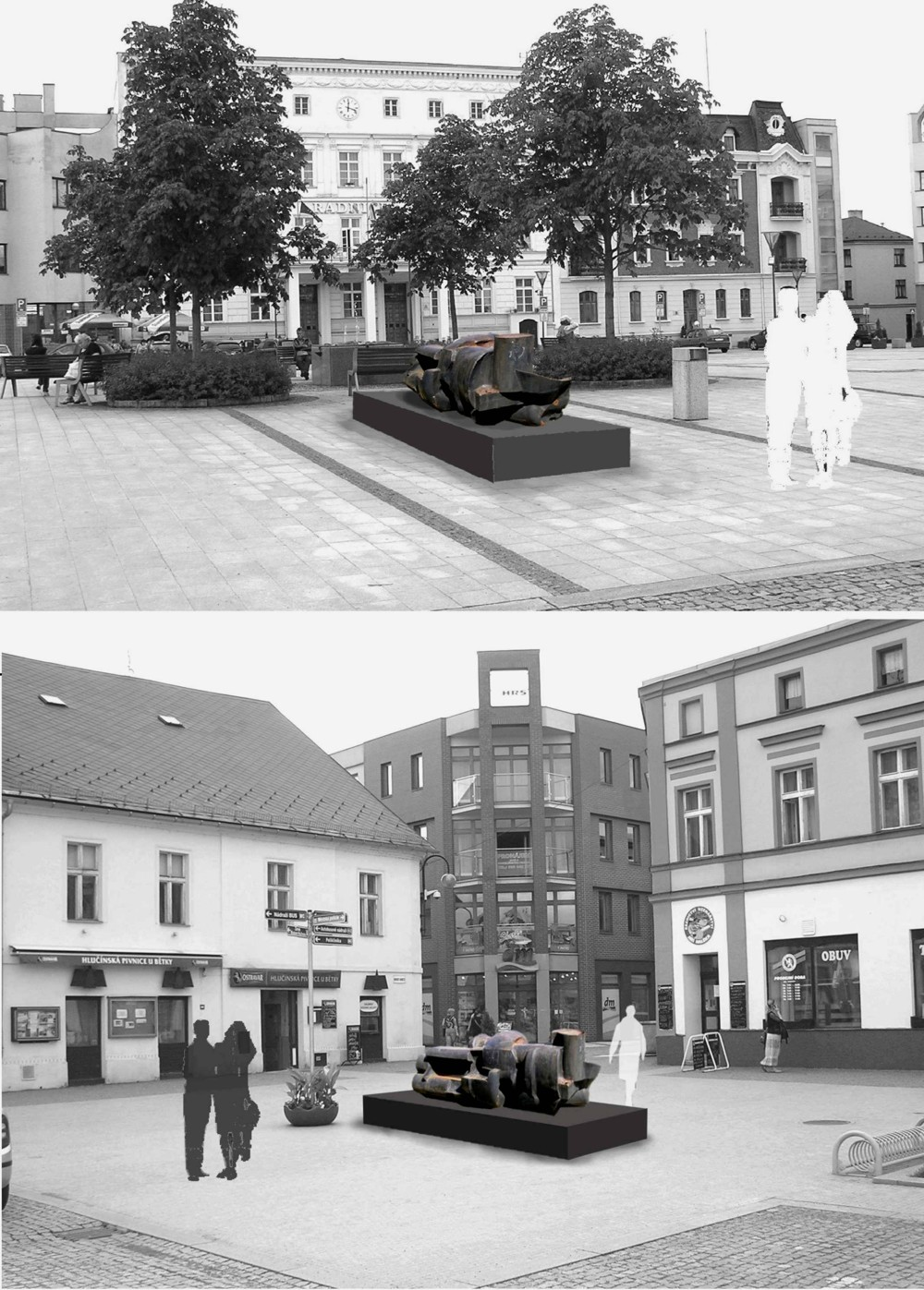 Fotografie k článku Přemístění ostravské sochy Františka Štorka v Hlučíně