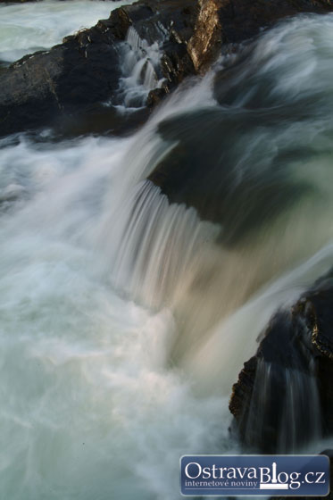 Nádherné snímky peřejí řeky Ostravice