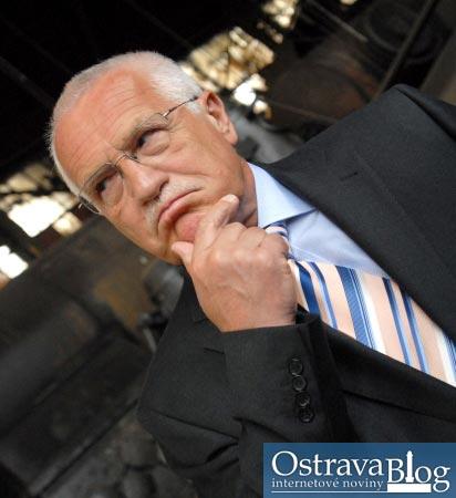 Fotografie k článku Momentky z návštěvy Václava Klause ve vítkovickém holdingu