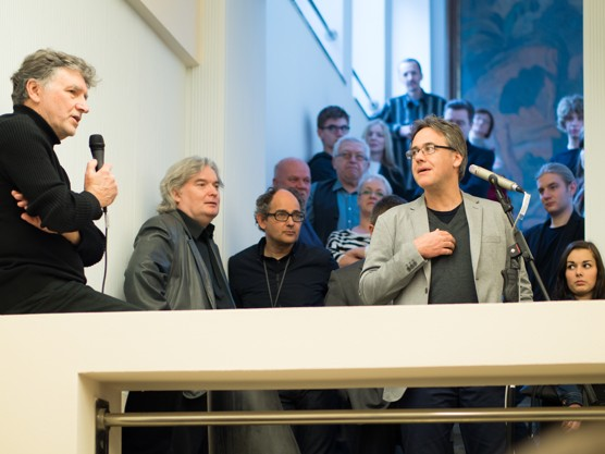 Alfred Neumann, NL Architects a Masaharu Takasaki v Domě umění / foto (c) Antonín Dvořák
