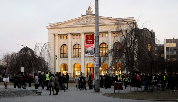 Demonstrace za záchranu Ostravice-Textilie / (c) Werner Ullmann, 2012