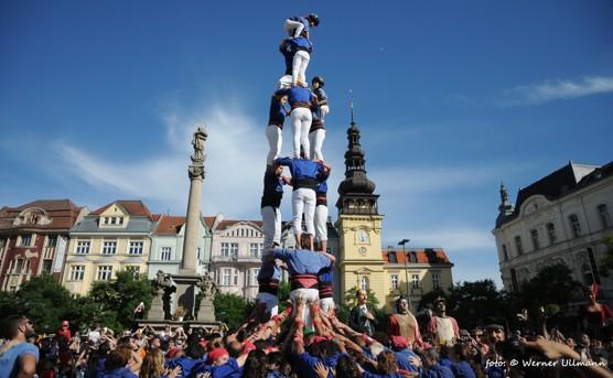 Katalánské lidské věže v Ostravě / foto (c) Werner Ullmann