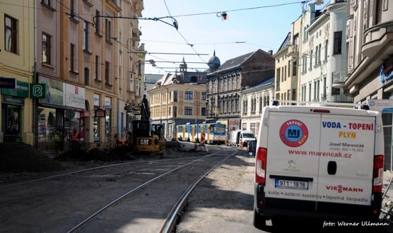 Obrazem: Nádražní ulice při druhé etapě rekonstrukce / foto (c) Werner Ullmann