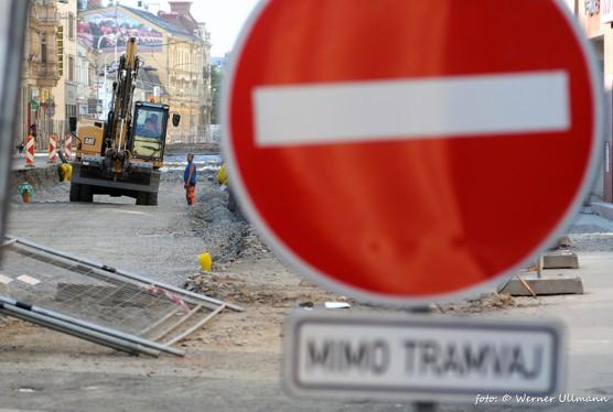 Nádražní ulice při rekonstrukci / foto (c) Werner Ullmann