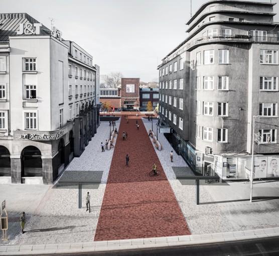 Vítězný návrh na úpravu Umělecké ulice