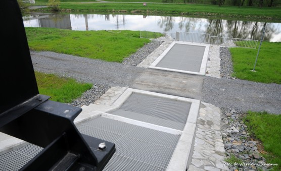 """Dnešní stav """"zelené vody"""" pod Landekem / foto (c) Werner Ullmann"""