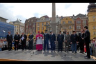 Fotografie ke krátké zprávě Socha svatého Floriána na Masarykově náměstí – fotografie ze slavnostního odhalení
